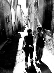 walking in the alleys